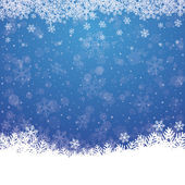 Fall snowflake snow stars blue white background — Stock Vector