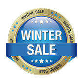 Sale winter button red blue — Stock Vector