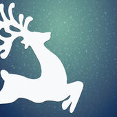 Reindeer winter background stars and snow — Stock Photo