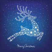 Stars reindeer winter background — Stock Photo