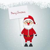 Noel Baba tutun işaret mutlu Noeller — Stok Vektör