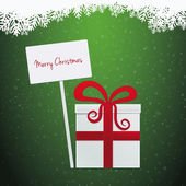 Gift merry christmas banner — Stock Photo