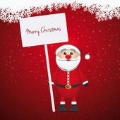 Santa claus hold sign merry christmas — Stock Photo