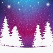 Fondo colorido invierno nevado — Vector de stock
