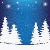 白雪皑皑的冬天背景 — 图库矢量图片