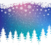 Colorful winter snowy background — Stockvektor