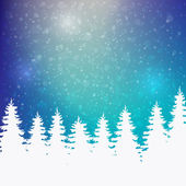 Winter snowy background — Stock Vector