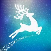 Reindeer colorful winter background — Stock Vector