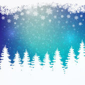 Winter snowy colorful background — Stok Vektör