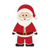 Santa claus merry christmas isolated — ストックベクタ