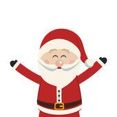 Noel Baba mutlu dalga eller izole — Stok Vektör
