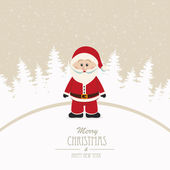 Fundo de inverno Santa feliz Natal — Vetor de Stock