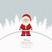 Santa merry christmas winter background — Stock Vector