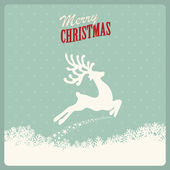 Reindeer fly merry christmas — Stock Vector