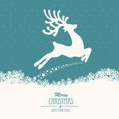 Renar flyger god jul — Stockvektor