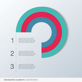 Colorful infographic elements circle — Stock Vector