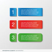 Colorful infographic banner — Stock Vector