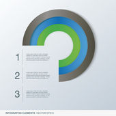 Colorful infographic circle elements — Stock Vector