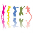 Colorful silhouettes — Stock Vector