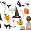 Royalty-Free Stock ベクターイメージ: Set of fun Halloween icons