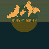 Halloween con fantasmas — Vector de stock