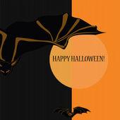 万圣节与蝙蝠 — 图库矢量图片