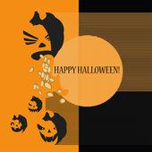 Halloween con calabazas — Vector de stock