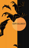 Halloween with bats — Stock Vector