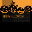 Royalty-Free Stock Vector Image: Halloween with pumpkins