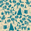 Halloween seamless pattern — Vector de stock  #13201045