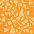 Vector de stock : Halloween seamless pattern