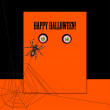 Halloween with spider and eyes — Stockvektor