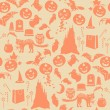 Halloween seamless pattern — Stock vektor #13320413