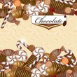 Background with chocolate candy — Stock Vector #13876933
