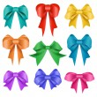 Stock Vector: Different colors bow collection