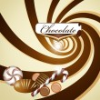 Chocolate background — Stock Vector #13876997