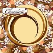 Background with chocolate candy — Stock Vector