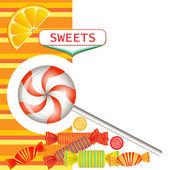 混合多彩糖果 — 图库矢量图片