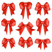 Red bow collection — Stock Vector