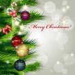 Merry Christmas background with balls — Stockvectorbeeld