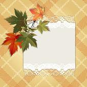 Fondo de otoño con hojas coloridas — Vector de stock