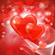 Royalty-Free Stock Vector Image: Valentine\'s day background with hearts