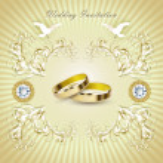 Romantic wedding invitation card — Stock Vector