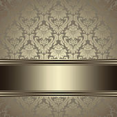 Vintage background. Ornate floral seamless pattern with gold. — Stock Vector