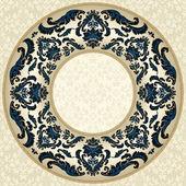 Vintage round floral frame — Stockvector