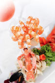 Cocktail and seafood — Stock Photo