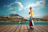 Girl in vacation — Foto de Stock