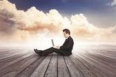 Hombre de negocios, finanzas y mercado — Foto de Stock