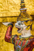 Grand palace, Tayland'ın dev yüzüne yakın çekim — Stok fotoğraf