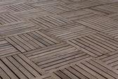 パターン木製の板の舗装 — ストック写真